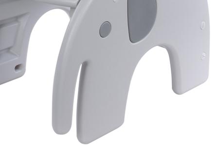 Antypoślizgowe nóżki fotela do karmienia