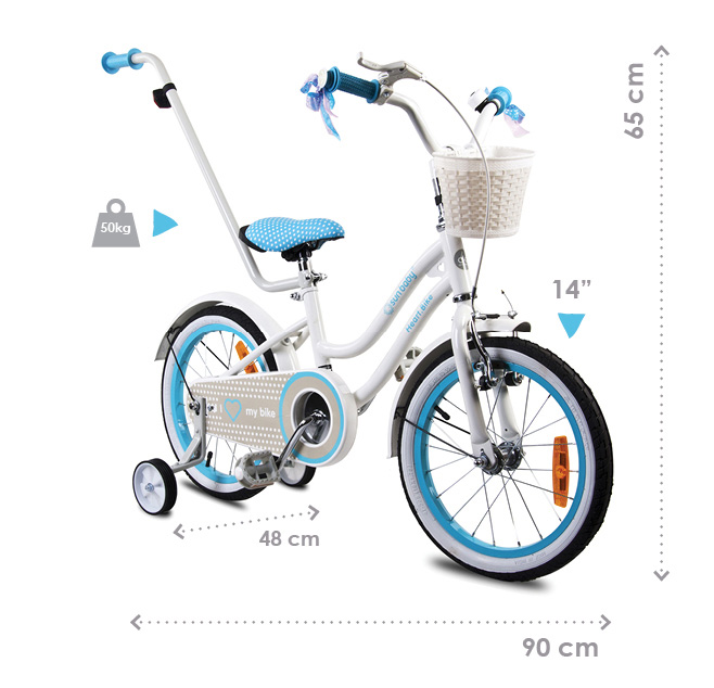 Wymiary rowerka dziecięcego bmx heart bike sun baby
