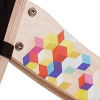 Rowerek Twist Cubic wykokonany z wysokiej jakości sklejki brzozowej
